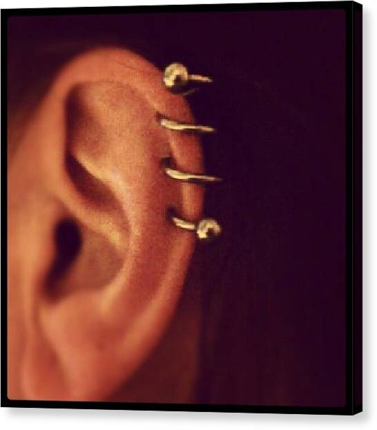 Spiral Canvas Print - My Helix Spiral #piercing #ear #ears by Jolene Cander