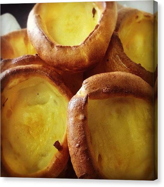 Pub Canvas Print - My #homemade #yorkshire #puddings by Johnny Saunders
