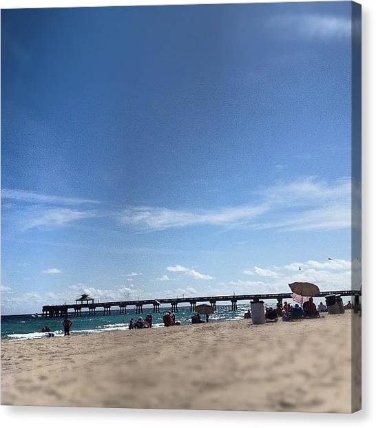 White Sand Canvas Print - My Husband Says 'what A Hard Life :p' by Emily W