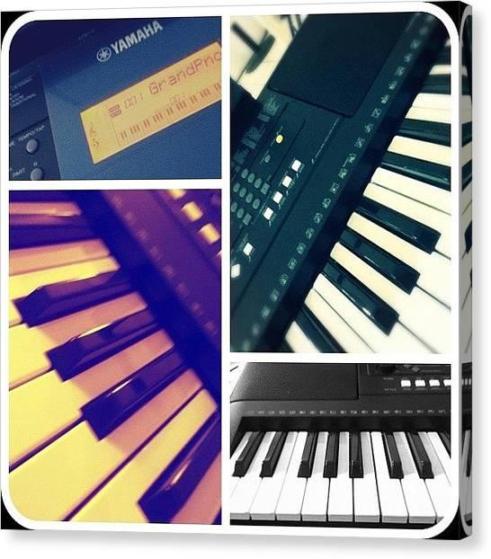 Keyboards Canvas Print - My Keyboard 🎶 by Andree Olazaran