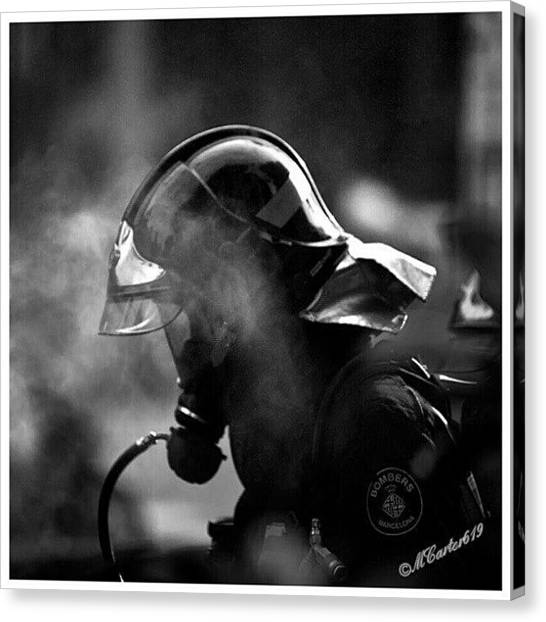 Firefighters Canvas Print - My Kinda Hero...one In by Mary Carter