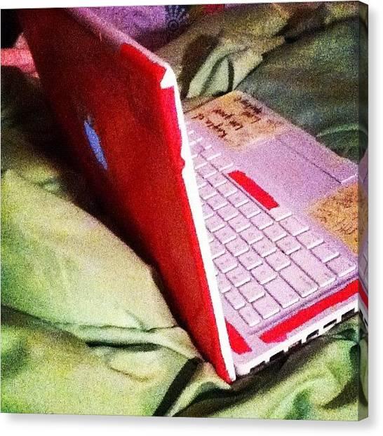 Mac Canvas Print - My Laptops So Pretty #laptop #apple by Kayla St Pierre