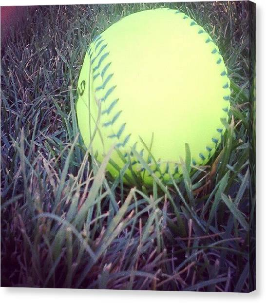 Softball Canvas Print - My Love And Passion,<3 #softball by Gabi Tomlinson