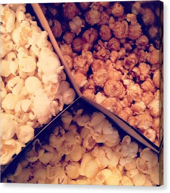 Popcorn Canvas Print - My Momma Just Bought Me Some by Natalia Christiano