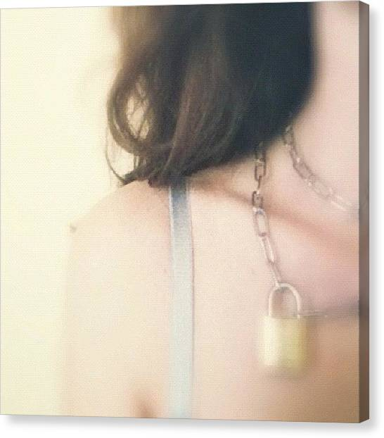 Nude Canvas Print - My New Tiffany Necklace by Francesca Sara