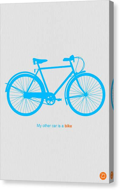 Bicycle Canvas Print - My Other Car Is A Bike  by Naxart Studio