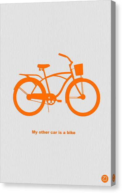 Bicycle Canvas Print - My Other Car Is Bike by Naxart Studio