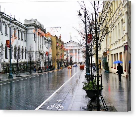 My Rainy City Canvas Print