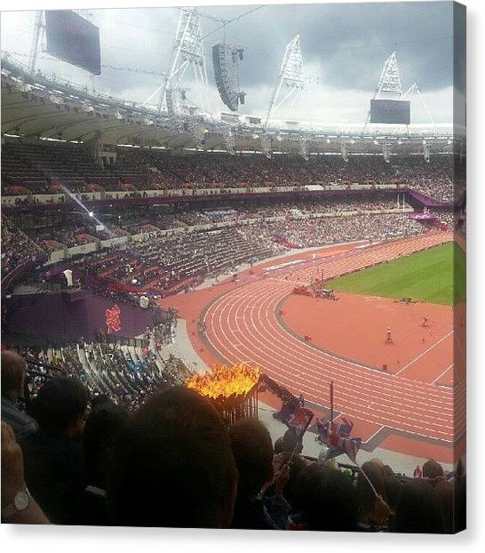 Stadiums Canvas Print - My Seat At The London Olympics by Stephen Thomas