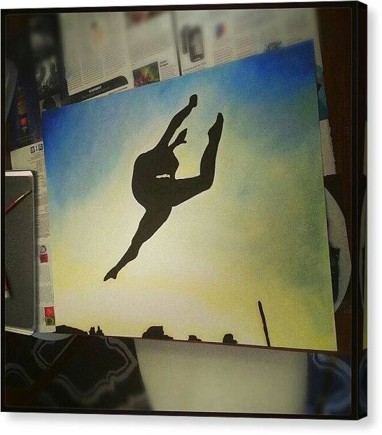 Ballerinas Canvas Print - My Sis Is Awesome! @nicole_draw Painted by Arianys Wilson