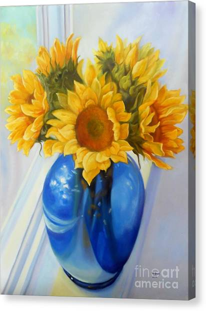 My Sunflowers Canvas Print