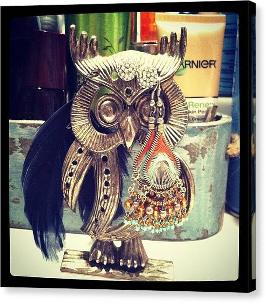 Owls Canvas Print - My #sweet #sister Found This #cool by Lori Lynn Gager