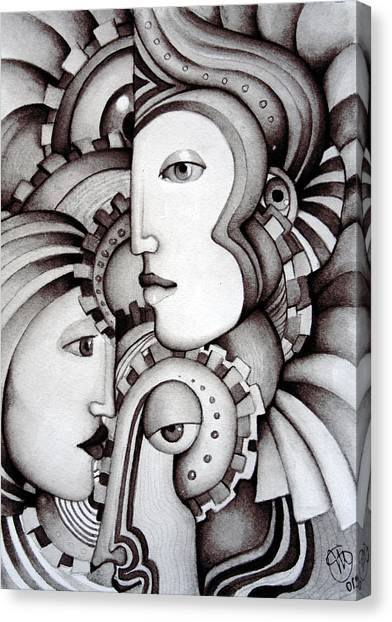 My Three Warriors Canvas Print by Simona  Mereu