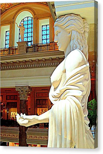 The Forum Canvas Print - My Vegas Caesars 17 by Randall Weidner
