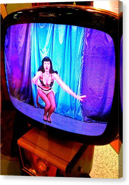 The Forum Canvas Print - My Vegas Caesars 23 Betty Page by Randall Weidner