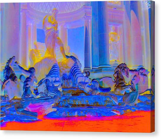 The Forum Canvas Print - My Vegas Caesars 4 by Randall Weidner