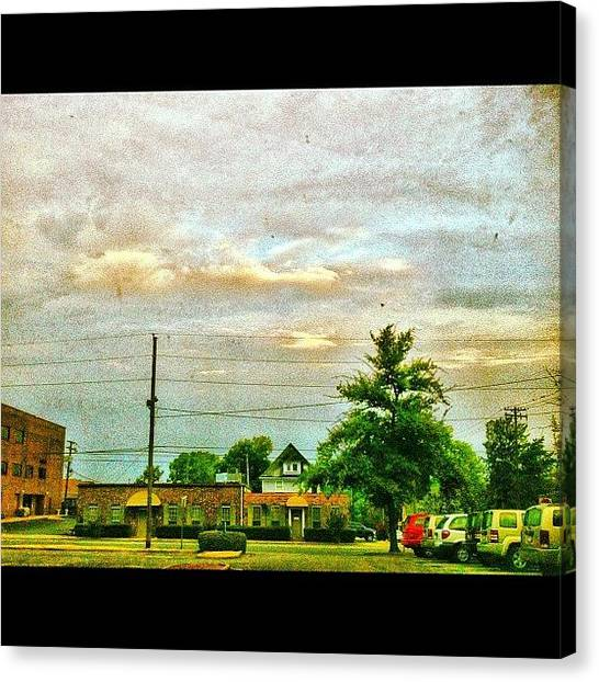 Arkansas Canvas Print - my View 7-9-12 0625 Hours by Roger Snook