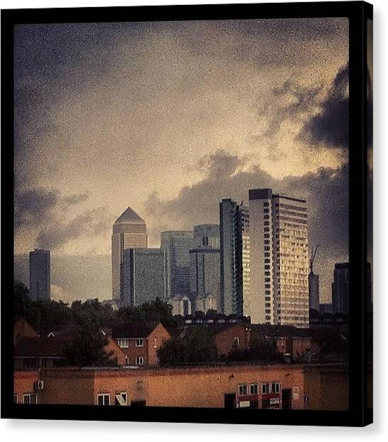 Offices Canvas Print - My View From The Train #london by Mike Hayford