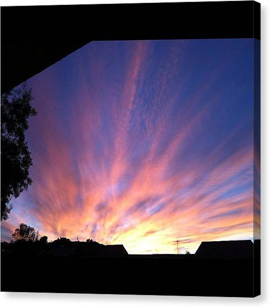 Los Angeles Angels Canvas Print - My View by Rose Champagne