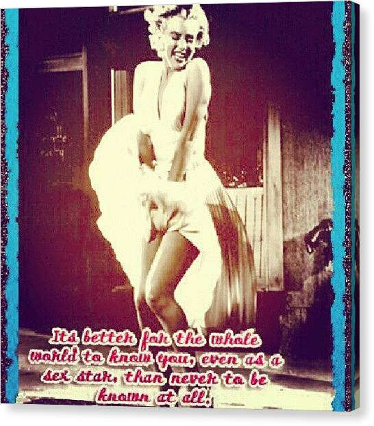Marilyn Monroe Canvas Print - My Wall Pic Is Black And White by Holley Jacobs
