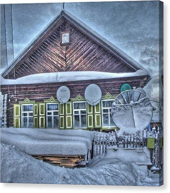 Satellite Canvas Print - My Wifes Parents House. #archive by Igor Che 💎