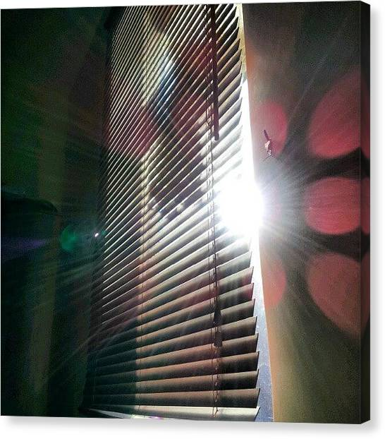 Follow Canvas Print - My #window In #morning #sunshine #sun by Abdelrahman Alawwad