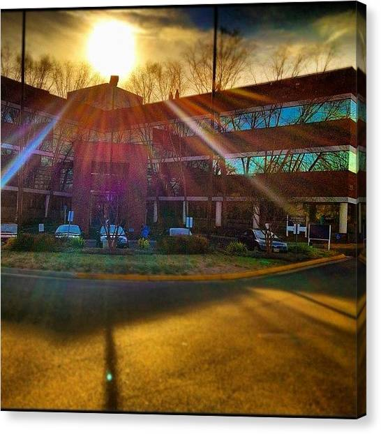 Offices Canvas Print - My #workplace! Taken On A Crisp #cold by Manan Shah