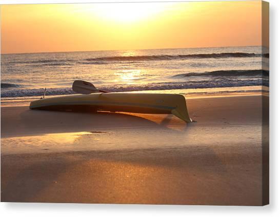 My Yellow Kayak Canvas Print