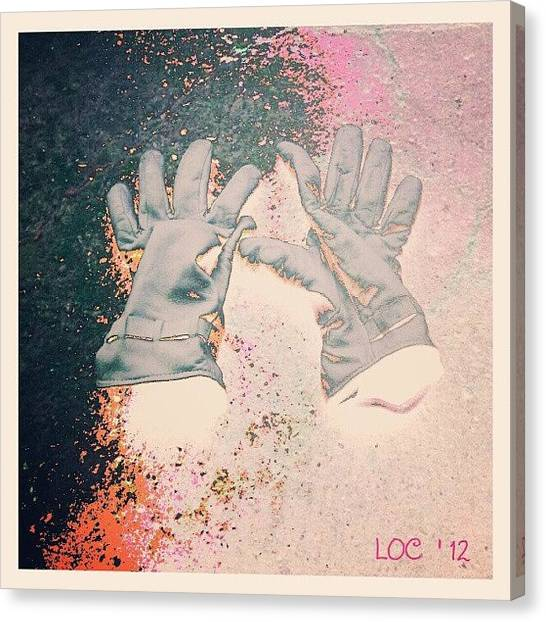 Gloves Canvas Print - Mygloves #soft_tones #all_shots by Lotte Corvinius
