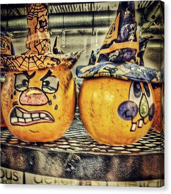Pumpkins Canvas Print - #myhdrworld #hdr #hdr_elite #hdr_pics by Travis Albert