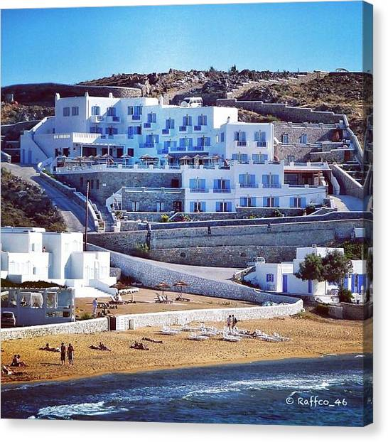 Heaven Canvas Print - Mykonos Magic!! #greece #iphonesia by Raffaele Salera