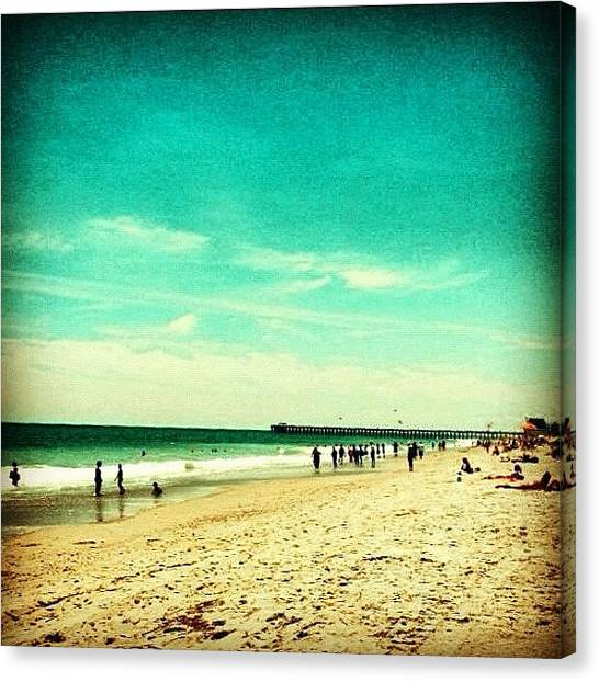 Humans Canvas Print - Myrtle Beach by Katie Williams