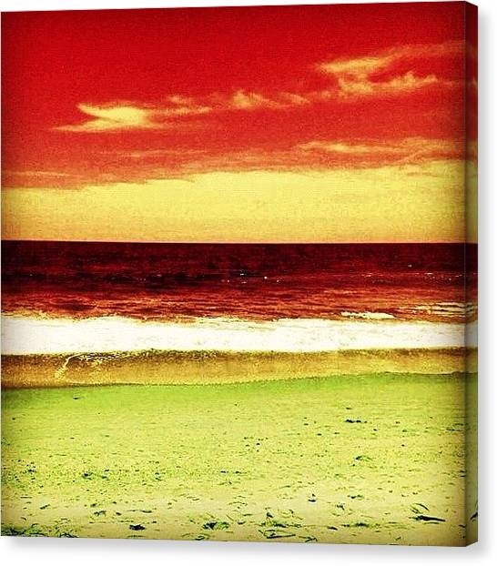Salt Canvas Print - #myrtlebeach #ocean #colourful by Katie Williams