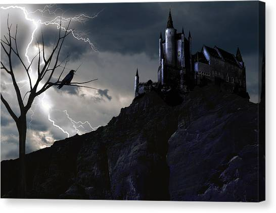 Mystery On The Hill Canvas Print