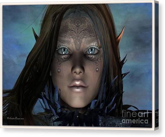 Canvas Print featuring the digital art Mystikal by Sandra Bauser Digital Art