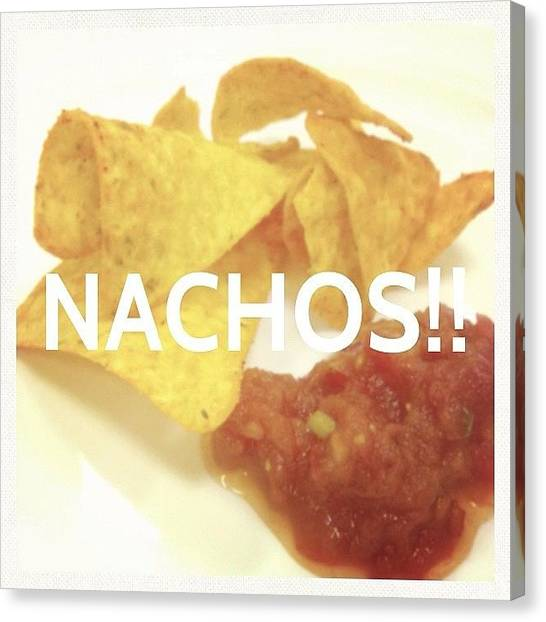 Onions Canvas Print - #nachos #mexican #food #snack #foodporn by Jerry Tang