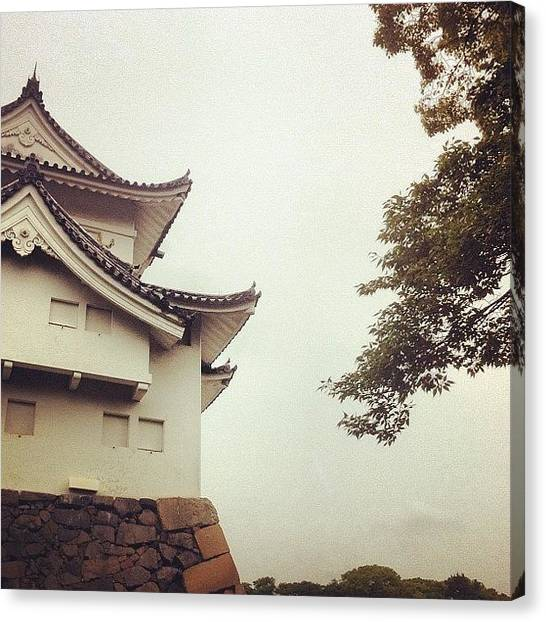 Japanese Canvas Print - Nagoya Castle Grounds by Cassie OToole