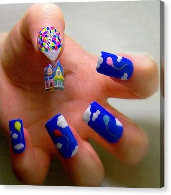Balloons Canvas Print - #nail #nails #nailart #balloons #house by Sophie D
