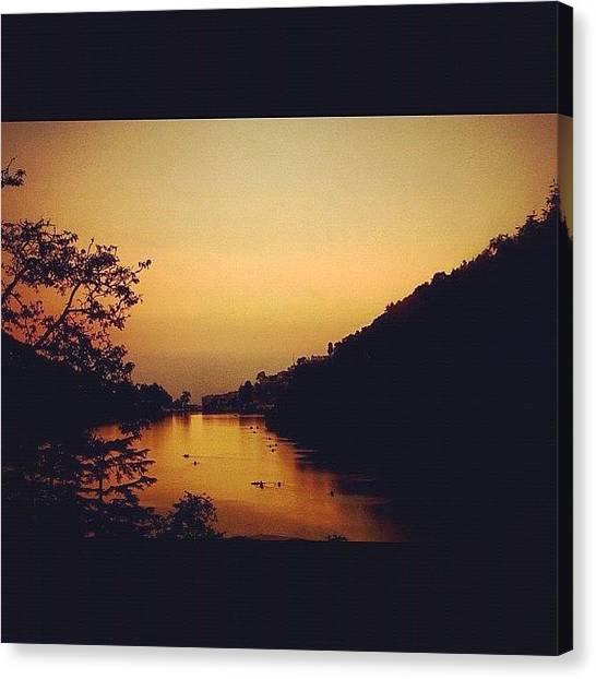 Lake Sunrises Canvas Print - #nainital #north #natural #northindia by Dhaval Patel