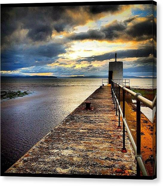 Marinas Canvas Print - #nairn #harbour #scotland #hdr #iphone by Toonster The Bold