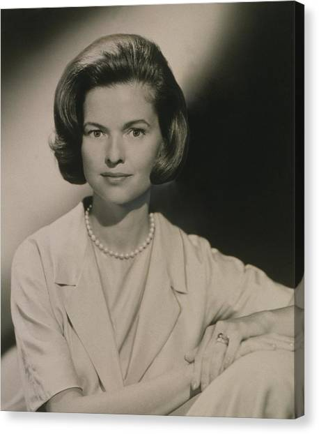 Nancy Dickerson 1927-1997 Was Hired Canvas Print by Everett