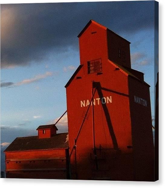 Prairie Sunsets Canvas Print - Nanton by Trever Miller