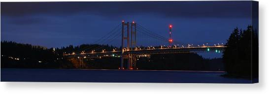 Narrows Bridges At Dusk Canvas Print