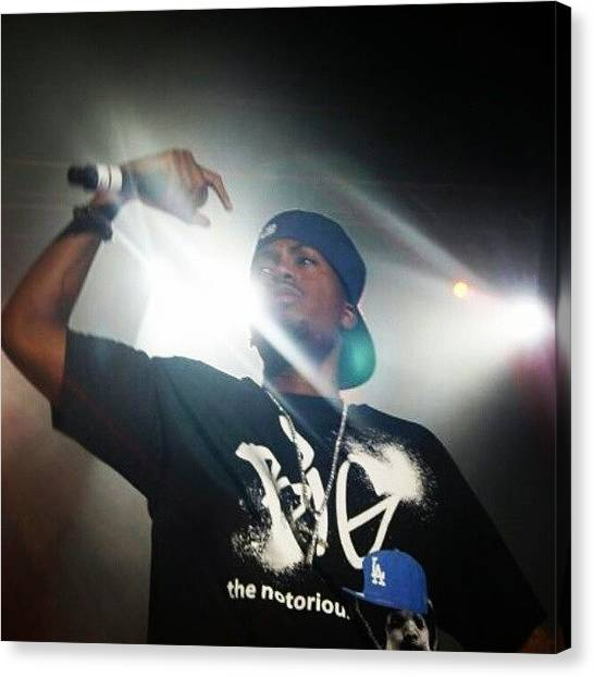 Hips Canvas Print - Nas Rock The Bells '09 #music #hiphop by Yesha Callahan