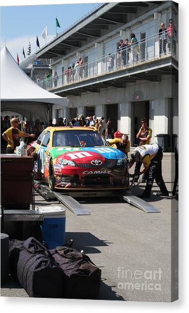 Kyle Busch Canvas Print - Nascar Inspection 24 by Roger Look