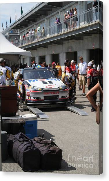 Tony Stewart Canvas Print - Nascar Inspection 34 by Roger Look
