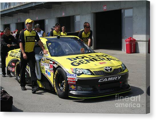 Joey Logano Canvas Print - Nascar Inspection 39 by Roger Look