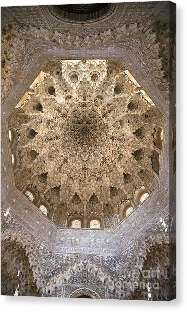 Alhambra Canvas Print - Nasrid Palace Ceiling by Jane Rix