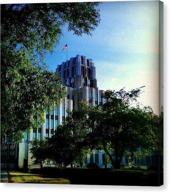 Syracuse University Canvas Print - National Grid #syracuse #architecture by Dan Piraino