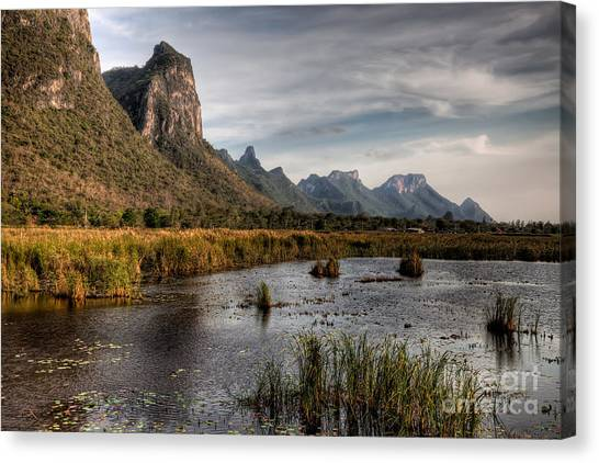 Mountain Caves Canvas Print - National Park Thailand by Adrian Evans